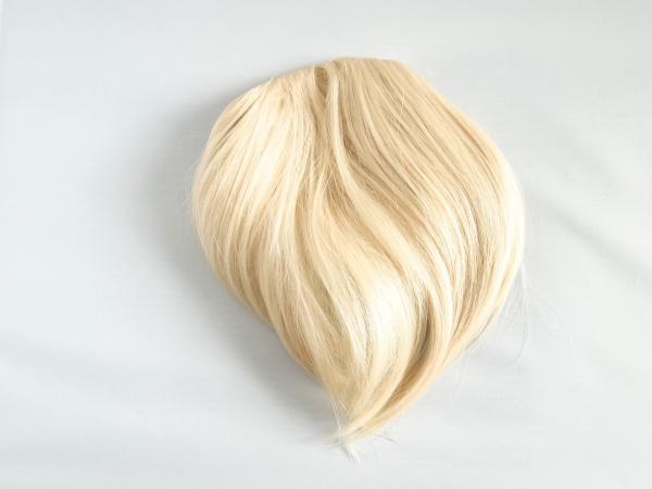 Rovná syntetická clip-in ofina -  platinová blond