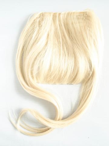 Dlouhé boky - syntetická clip-in ofina - platinová blond