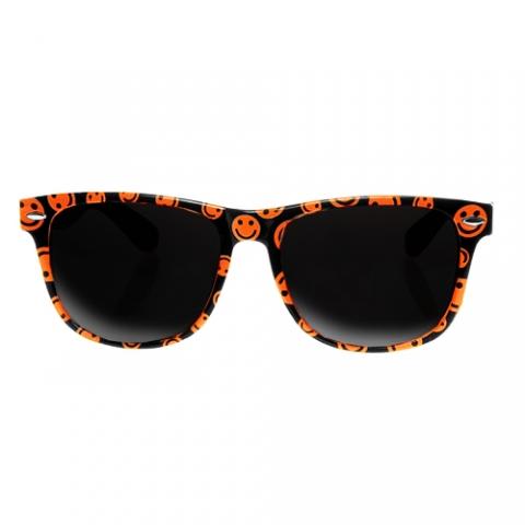 Slnečné okuliare - Wayfarer style - smiley - oranžové