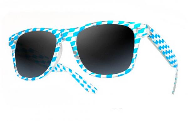 Sluneční brýle Wayfarer style - square - modré