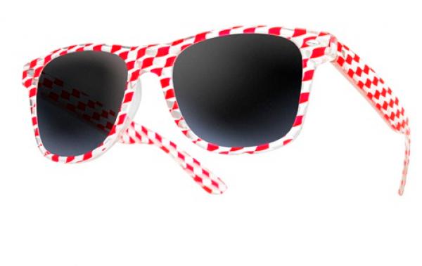 Sluneční brýle Wayfarer style - square - červené