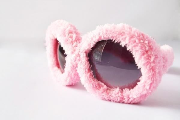 Sluneční brýle Chlupaté party brýle Rugy Bugy - růžové