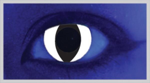 MesmerEyez - White Cat UV 2 čočky - crazy čočky