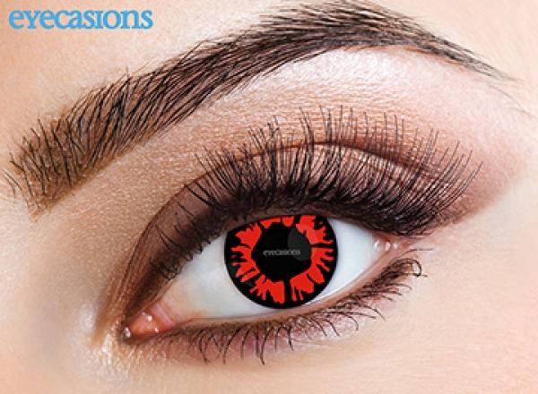 Eyecasions - Explosion red | mesačné + 60ml roztok + púzdro zadarmo