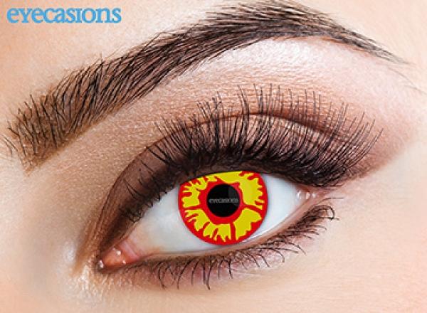 Eyecasions - Flame | měsíční + 60ml roztok + pouzdro zdarma