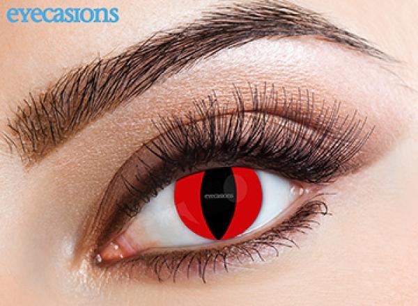 Eyecasions - Red cat | měsíční + 60ml roztok + pouzdro zdarma