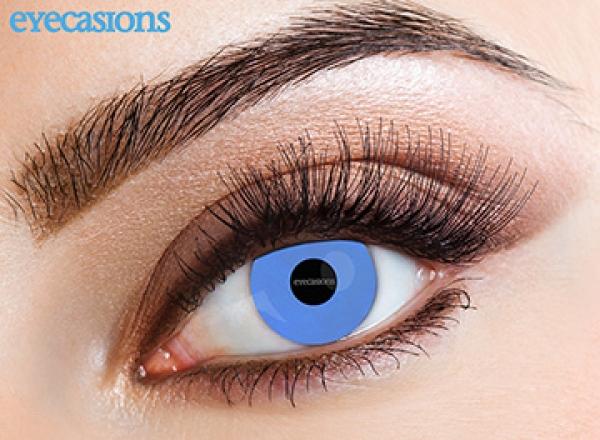 Eyecasions - UV Blue + 60ml roztok + pouzdro zdarma 2 čočky - crazy čočky