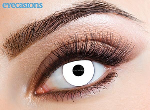Eyecasions - UV White | mesačné + 60ml roztok + púzdro zadarmo