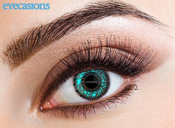 Eyecasions - Two Tone Aqua | mesačné + 60ml roztok + púzdro zadarmo
