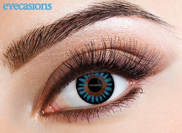 Eyecasions - Misty Blue   mesačné + 60ml roztok + púzdro zadarmo