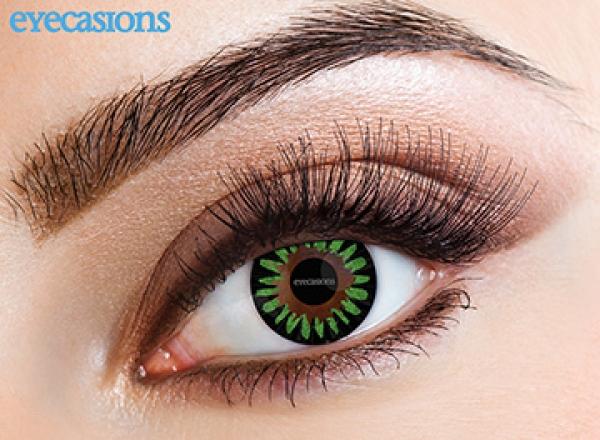 Eyecasions - Misty Green + 60ml roztok + pouzdro zdarma 2 čočky - barevní čočky