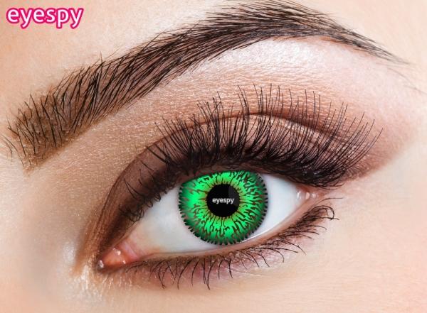 Eyecasions Eyespy - Three Tone Green + 60ml roztok + pouzdro zdarma 2 čočky - barevní čočky