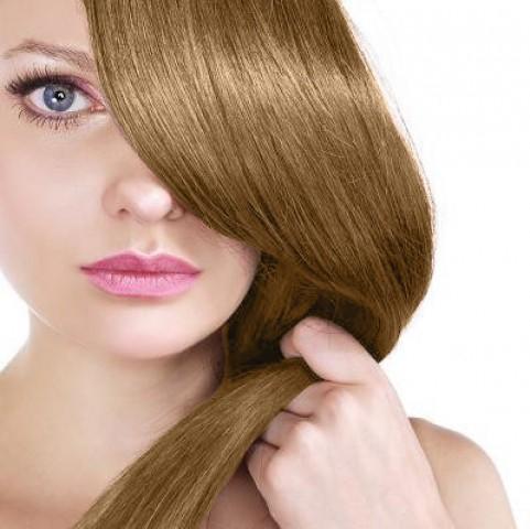Clip in vlasy - jahodová blond - 45 cm
