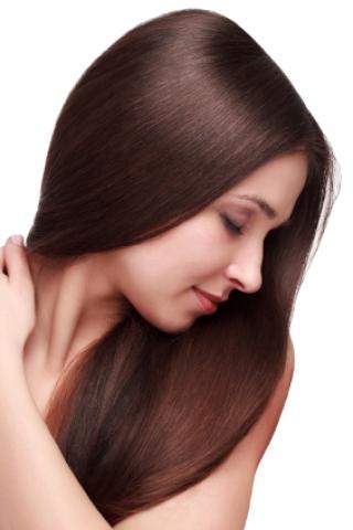 Clip-in umelé vlasy 70 cm -  tmavohnedé - tmavomedené