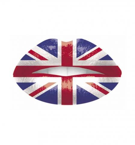 Dočasné tetovanie na pery - I love England