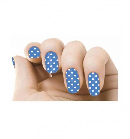 Samolepky na nechty - Blue flamenco
