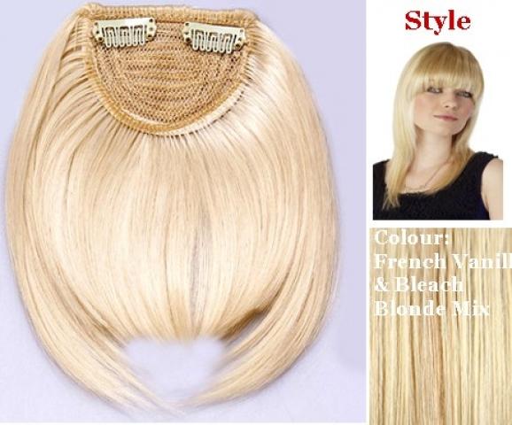 Clip-in ofina - klasická rovná - zlatá blond/platinová blond