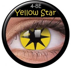 MaxVue Vision ColourVUE - Yellow Star 2 čočky - crazy čočky