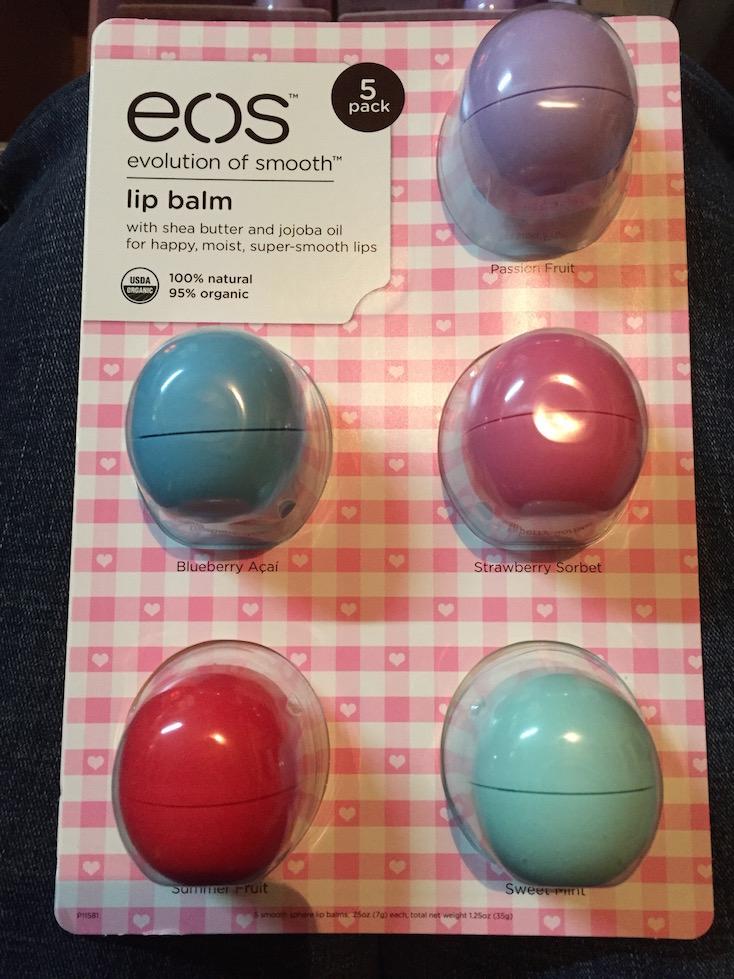 E.l.f EOS balzám na rty - 5 ks EOS lip balm 5-pack 35 g