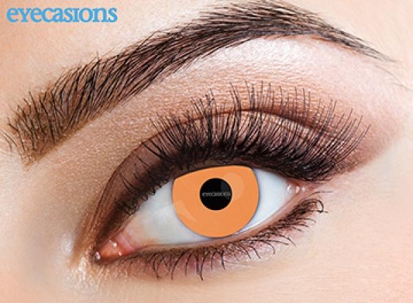 Eyecasions - UV Orange| měsíční + 60ml roztok + pouzdro zdarma