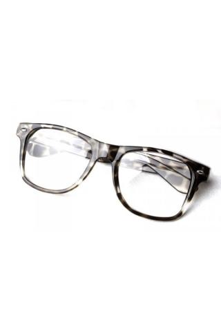 Sluneční brýle Wayfarer style leopardí vzor - čirá skla