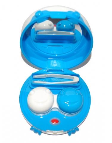 Vibráló kontaktlencse tároló tok - kék