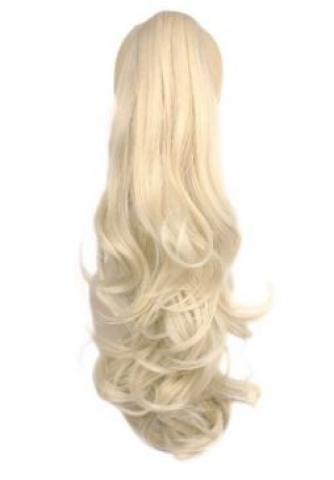 Zvlněný culík se skřipcem - blond