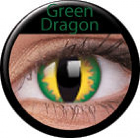 MaxVue Vision ColourVUE - Green Dragon | dioptrické - dioptrie: -3.50, zakřivení: 8.60, průměr: 14.00