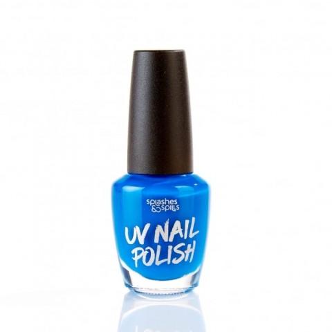 UV Körömlakk Splashes & Spills - kék