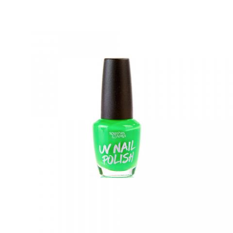 Splashes&Spills UV Lak na nehty Splashes & Spills - zelený 13ml