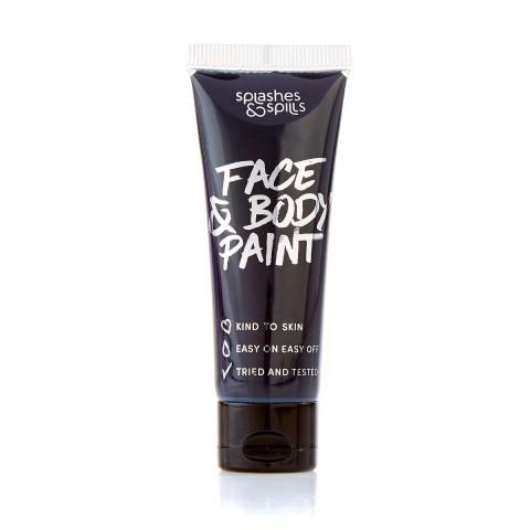 Splashes&Spills SFX barva na tělo a obličej (v tubě) - černá