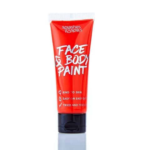 Splashes&Spills SFX barva na tělo a obličej (v tubě) - červená
