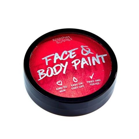 Splashes&Spills SFX barva na tělo a obličej - červená