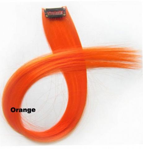 Színes csatos hajtincs - narancssárga