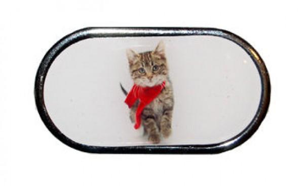 Púzdro so zrkadlom - Vianočné - Mačiatko so šálom