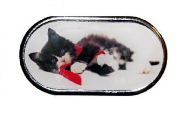 Púzdro so zrkadlom - Vianočné - Mačiatko ležiace v šále