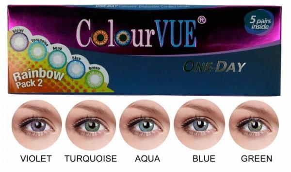One day - Trublends Rainbow Pack2 | 5 párů 2 čočky - barevní čočky