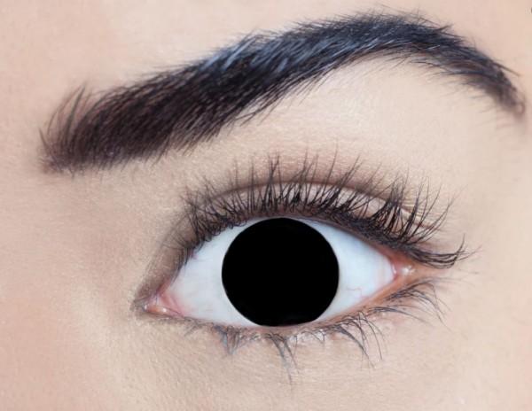 MesmerEyez - Blind Black | jednodenní 2 čočky - crazy čočky