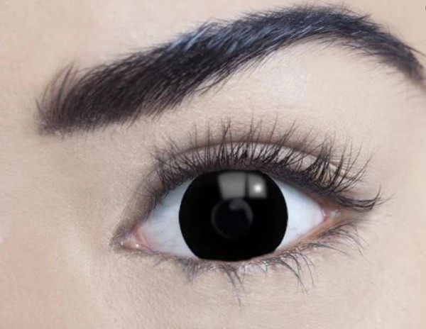 MesmerEyez - Mini Sclera Black 17mm | jednodňové (Black titan)