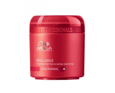 Wella Professional Maska pro jemné až normální barvené vlasy Brilliance (Treatment For Fine/Normal Colored Hair) 150 ml