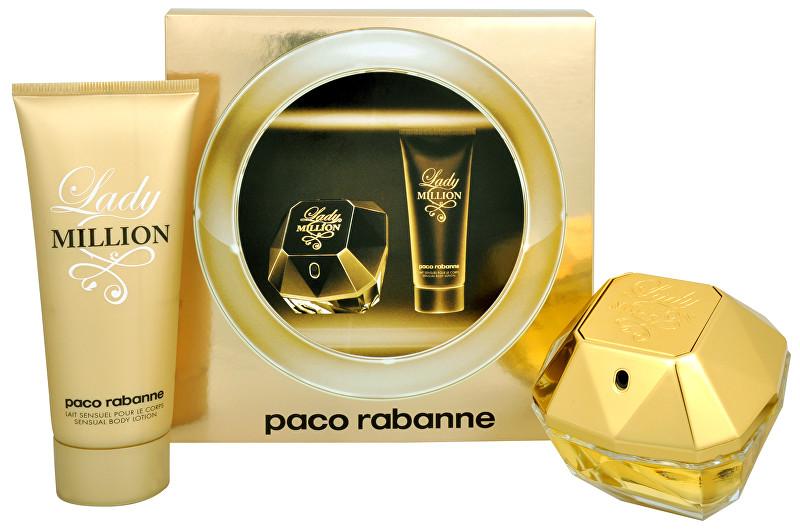 PACO RABANNE Lady Million - EDP 80 ml + tělové mléko 100 ml