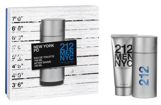CAROLINA HERRERA 212 Men - EDT 100 ml + gel po holení 100 ml