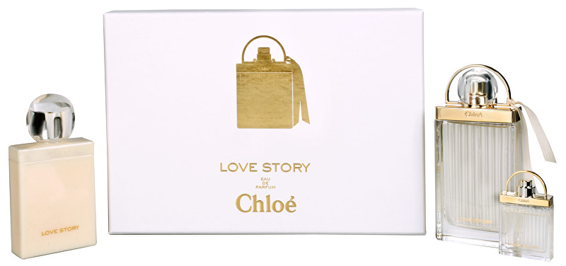 CHLOE Love Story - EDP 75 ml + tělové mléko 100 ml + miniatura EDP 7,5 ml