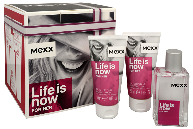 MEXX Life Is Now For Her - EDT 30 ml + tělové mléko 2 x 50 ml