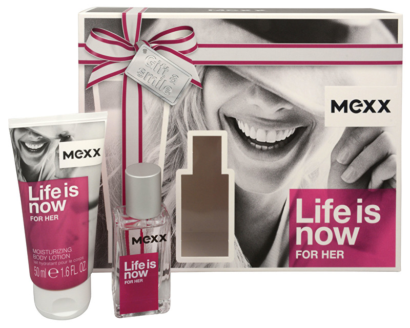 MEXX Life Is Now For Her - EDT 15 ml + tělové mléko 50 ml