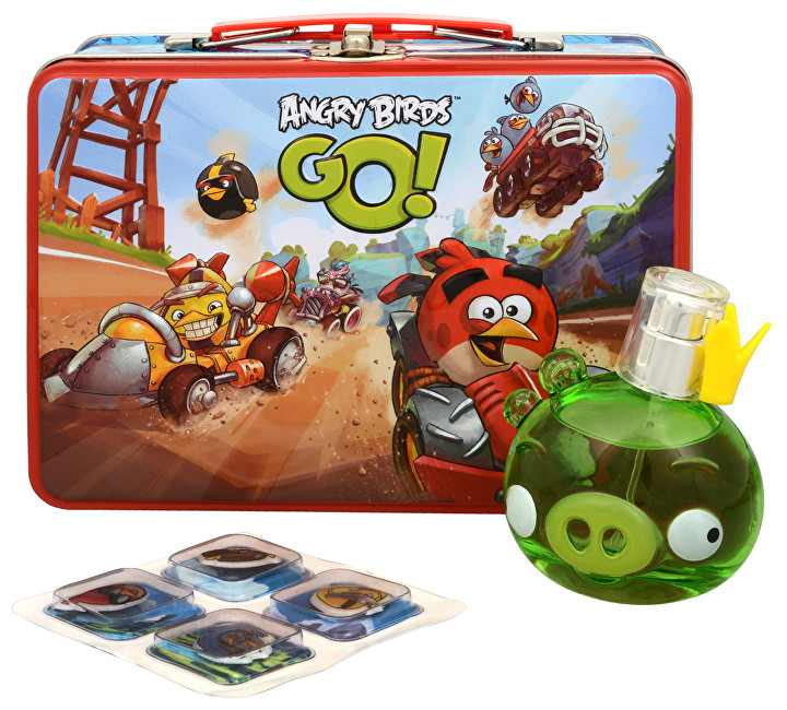 EP Line Angry Birds King Pig - EDT 50 ml + kufřík + samolepky