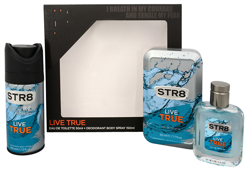 STR8 Live True - EDT 50 ml + deodorant ve spreji 150 ml