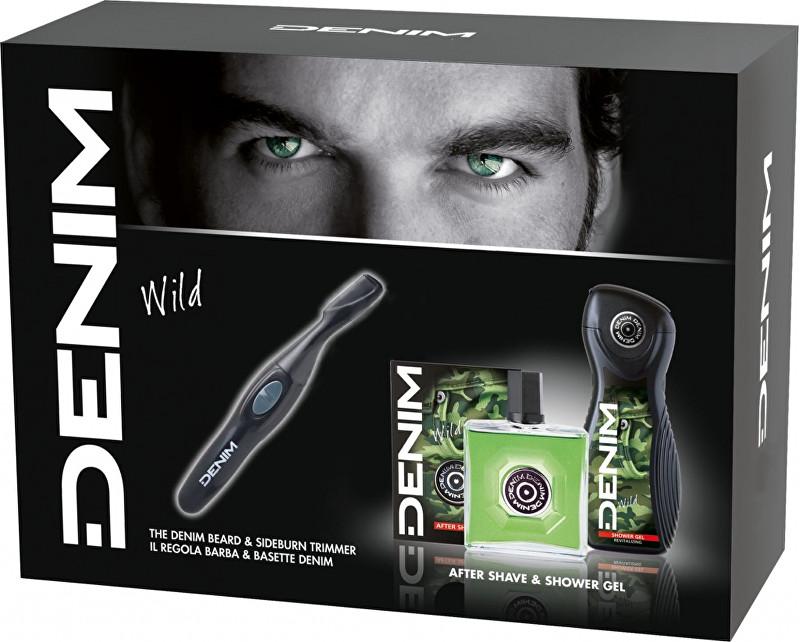 Denim Wild - voda po holení 100 ml + sprchový gel 250 ml + zastřihovač vousů