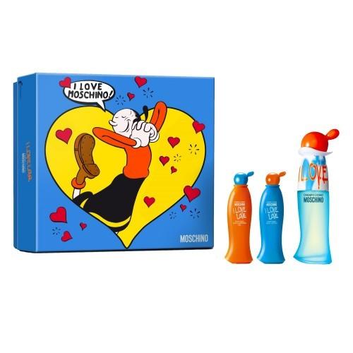 MOSCHINO Cheap & Chic I Love Love - EDT 30 ml + tělové mléko 25 ml + sprchový gel 25 ml