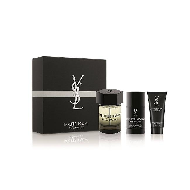YVES SAINT LAURENT La Nuit De L´ Homme - EDT 100 ml + tuhý deodorant 75 ml + sprchový gel 50 ml
